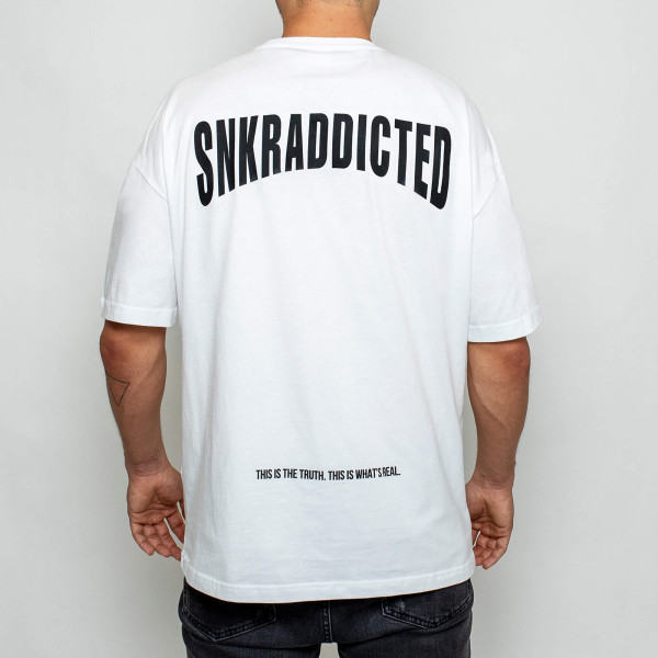 SNKRADDICTED FIRST WAVE OVERSIZED SHIRT WHITE